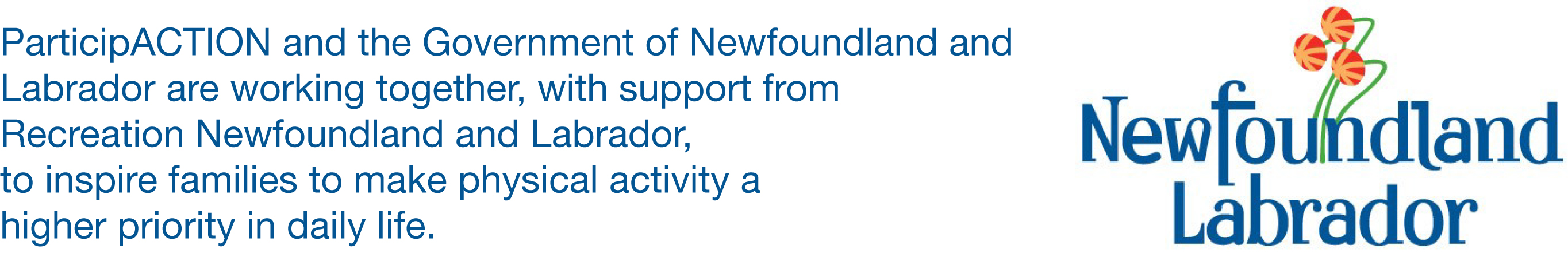 ParticipACTION and the Government of Newfoundland and Labrador are working together, with support from Recreation NL, to inspire families to make physical activity a higher priority in daily life.